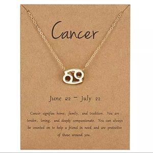 Jewelry - NEW!! ♋️ Cancer zodiac sign necklace